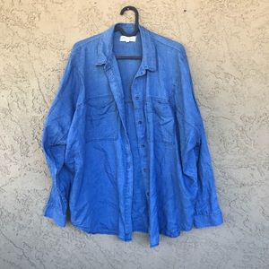 Madewell Size Medium Denim Look Button Down Top